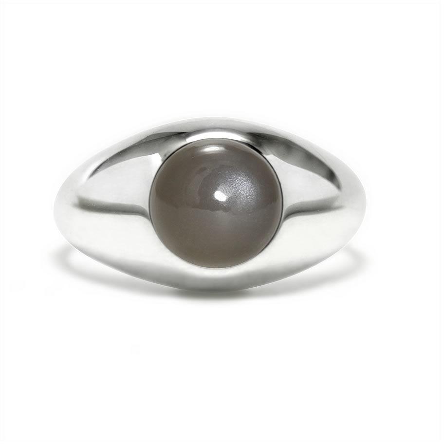 Kuźnia Srebra - Pierścionek srebrny, Kamień Księżycowy, 4g, model