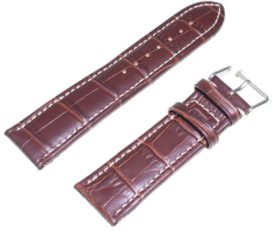 Skórzany pasek do zegarka 24 mm JVD R14502-24