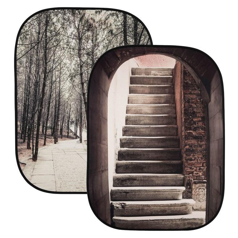 Lastolite LL LB5740 - tło składane Perspective Collapsible Stone Steps/ Winter Trees 1,5x2,1m