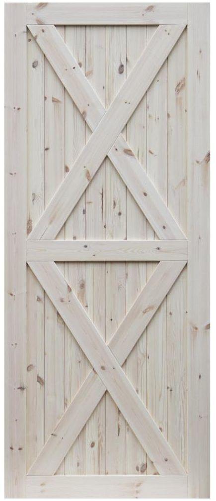 Skrzydło drzwiowe pełne drewniane LOFT XX 80 Prawe RADEX
