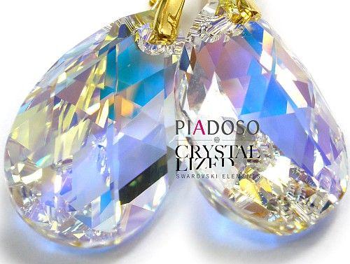 Kryształy komplet łańcuszek ZŁOTE SREBRO AURORA