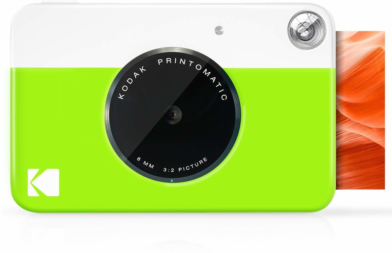 Kodak PRINTOMATIC cyfrowa kamera do drukowania natychmiastowego, pełne kolory na cynku 2 x 3 papier fotograficzny z samoprzylepną tylną stroną drukuj wspomnienia natychmiast (neonowy zielony)