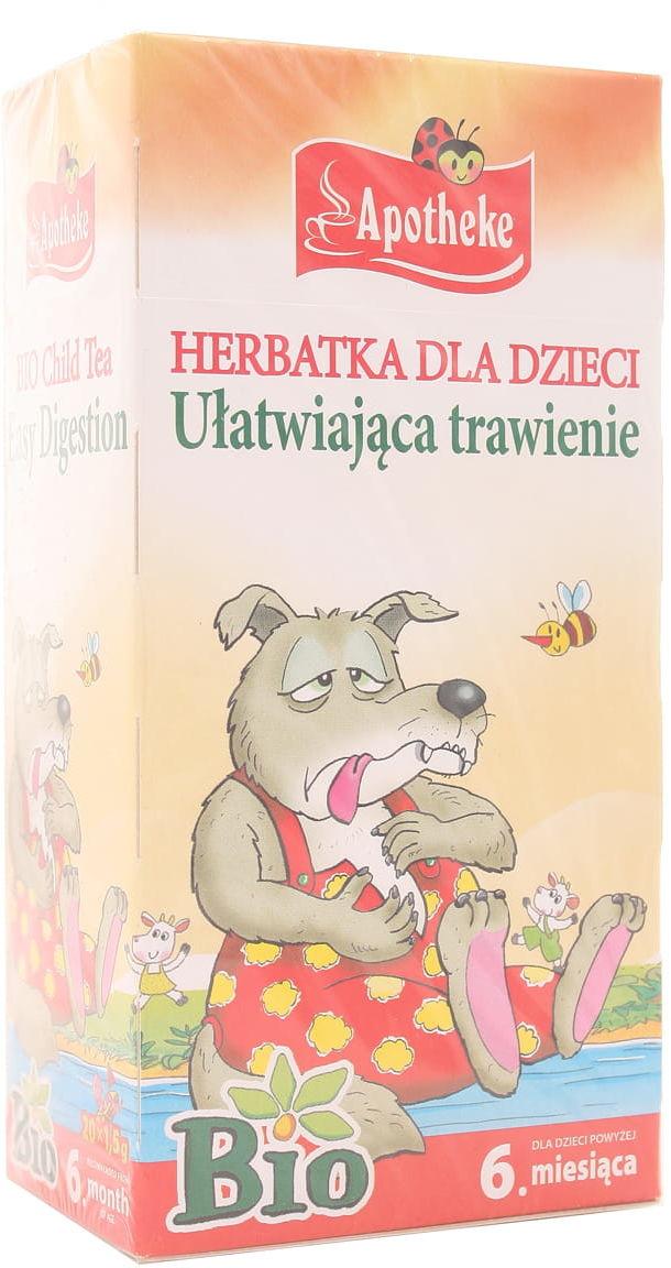 Herbatka dla dzieci ułatwiająca trawienie BIO - Apotheke - 20sasz