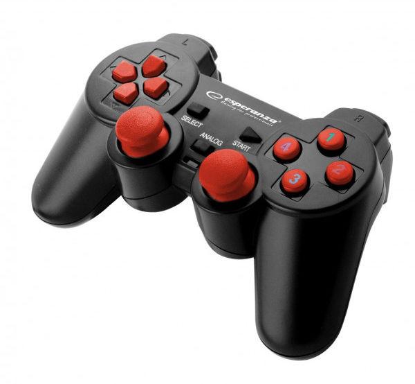 EGG102R Gamepad PC USB Warrior czarno-czerwony Esperanza