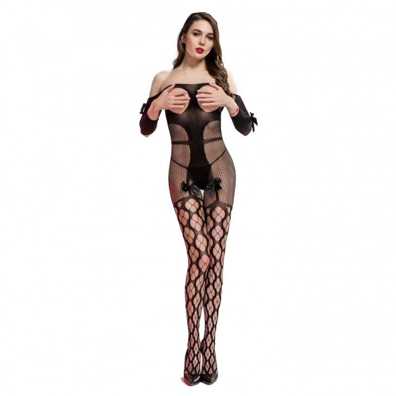 Bielizna erotyczna body koronka bodystocking Beauty Senses BS001357