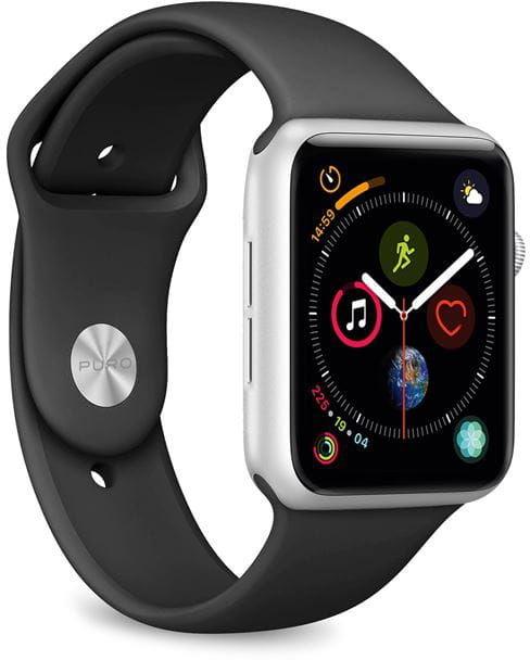 Elastyczny pasek PURO ICON Band Apple Watch 38 / 40 mm (S/M & M/L) (czarny)
