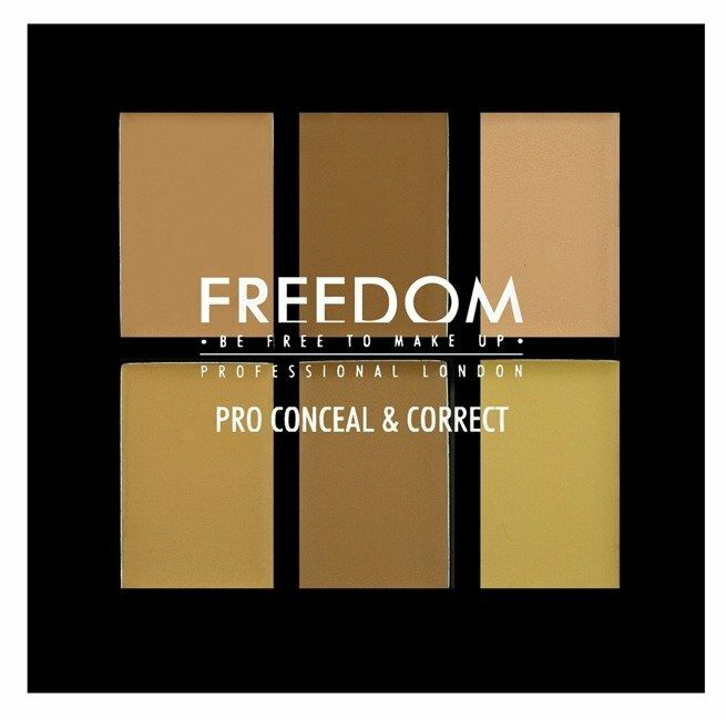 Freedom PRO Conceal&Correct Palette - Paleta 6 korektorów do twarzy Light/Medium - Light/Medium