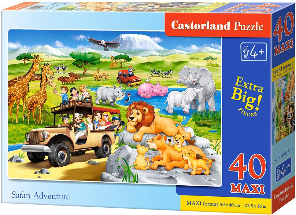 Puzzle Castor 40 MAX - Przygoda na Safari, Safari Adventure