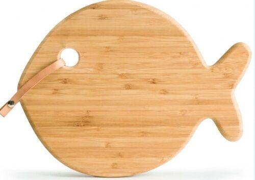 deska do serwowania, ryba, bambus, 31 x 26 cm