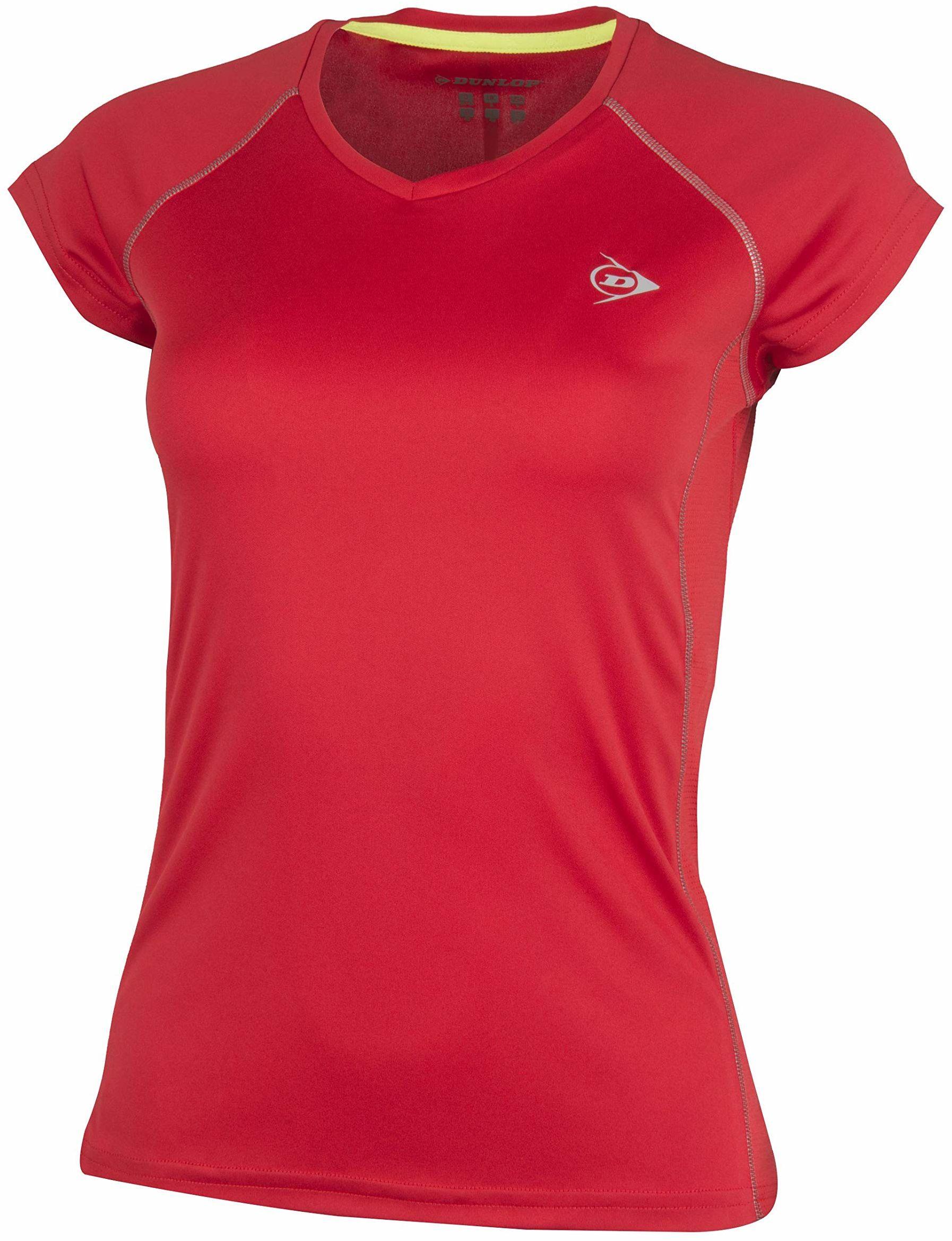 Dunlop Club Line Ladies Crew Tee Club Line Ladies Crew Tee czerwony czerwony X-S