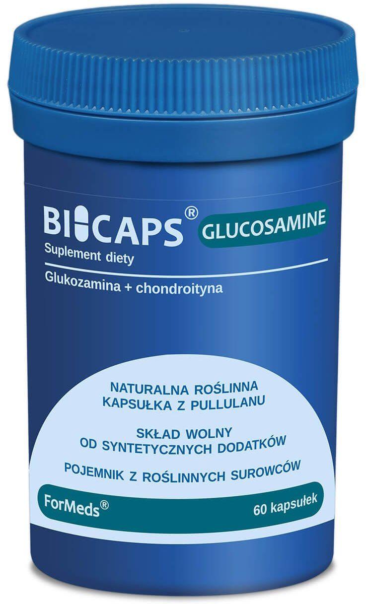 BICAPS GLUCOSAMINE Glukozamina + Chondroityna (60 kaps) ForMeds