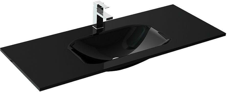 Umywalka szklana 100 Loka Black Elita (145115)