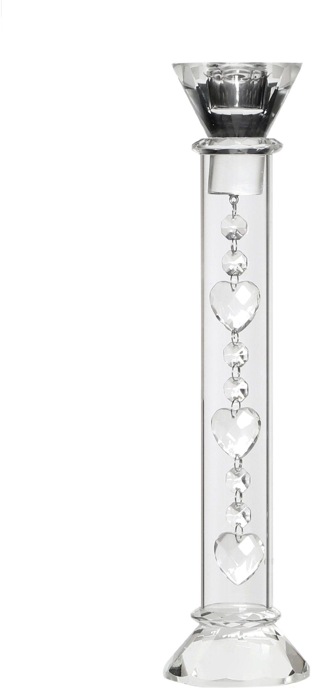 Premier Housewares 1410848 świecznik z wiszącymi sercami, 33 x 8 x 8 cm