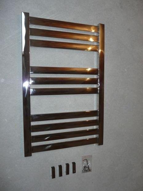 Grzejnik dekoracyjny Vas - rurka płaska, 600x1200, Polerowana stal nierdzewna