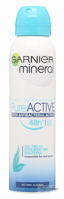 GARNIER - Mineral - Anti-Perspirant Pure Active - Antyperspirant antybakteryjny z ekstraktem z drzewa herbacianego - 150 ml