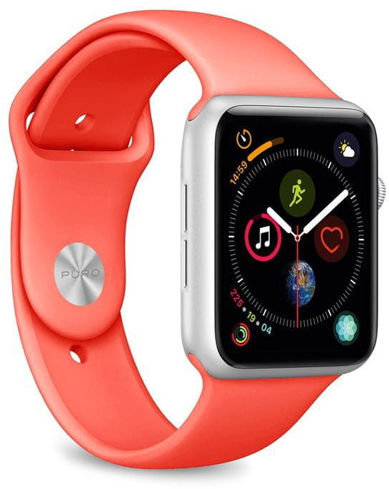 Elastyczny pasek PURO ICON Band Apple Watch 42 / 44 mm (S/M & M/L) (Living Coral)