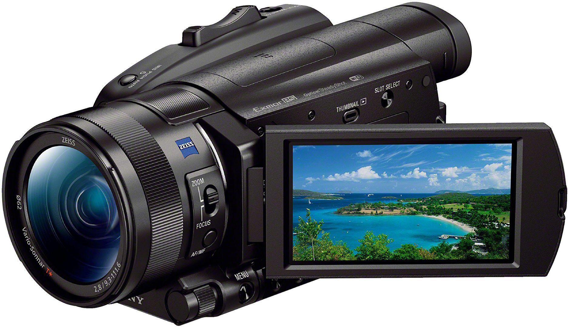 """Sony FDR-AX700 4K HDR, profesjonalna kamera cyfrowa, matryca Exmor RS 1"""", Stabilizacja optyczna B.O.SS, 12 - krotny zoom, 293 punkty autofokus, HLG, S-log2/3."""
