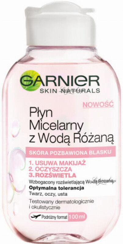 GARNIER - Płyn micelarny z wodą różaną - Skóra pozbawiona blasku - 100 ml