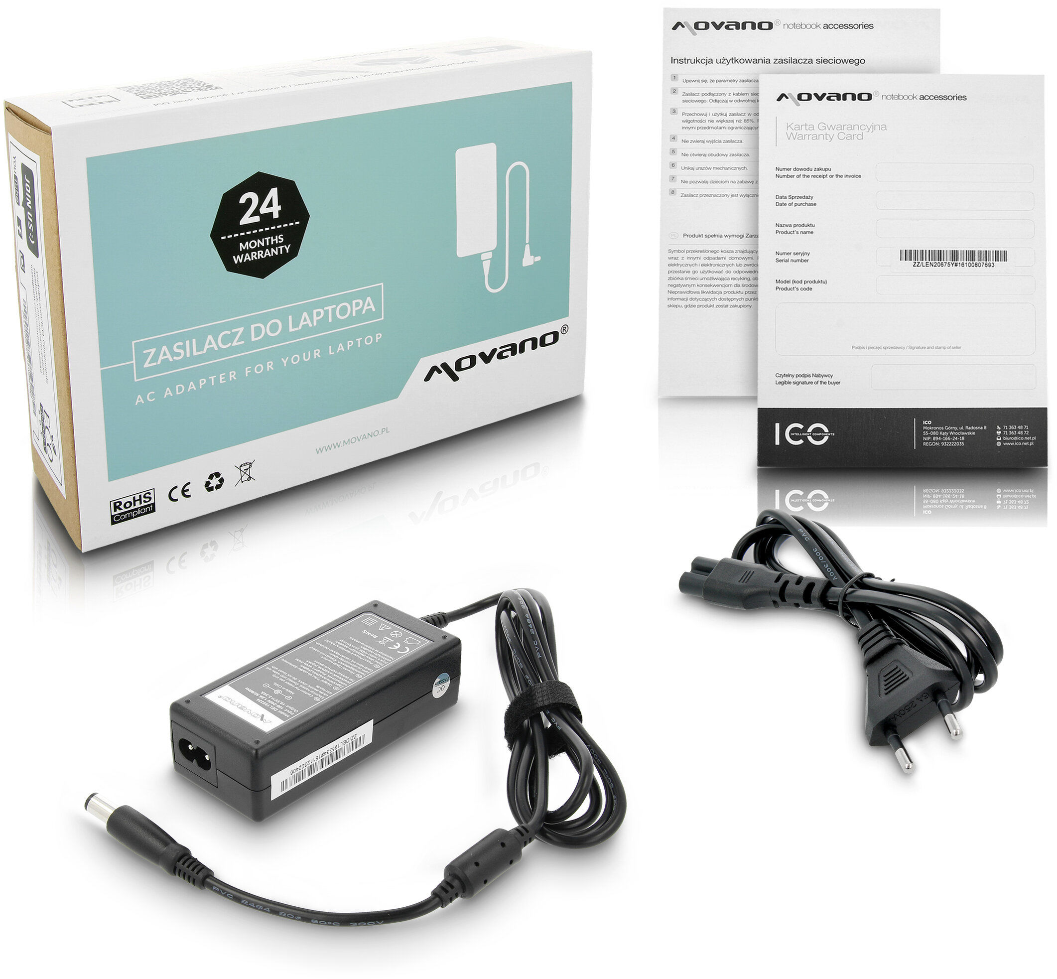 Zasilacz ładowarka do Dell Latitude D600 D531 D530 D520 D510