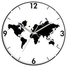 Zegar convex mapa świata