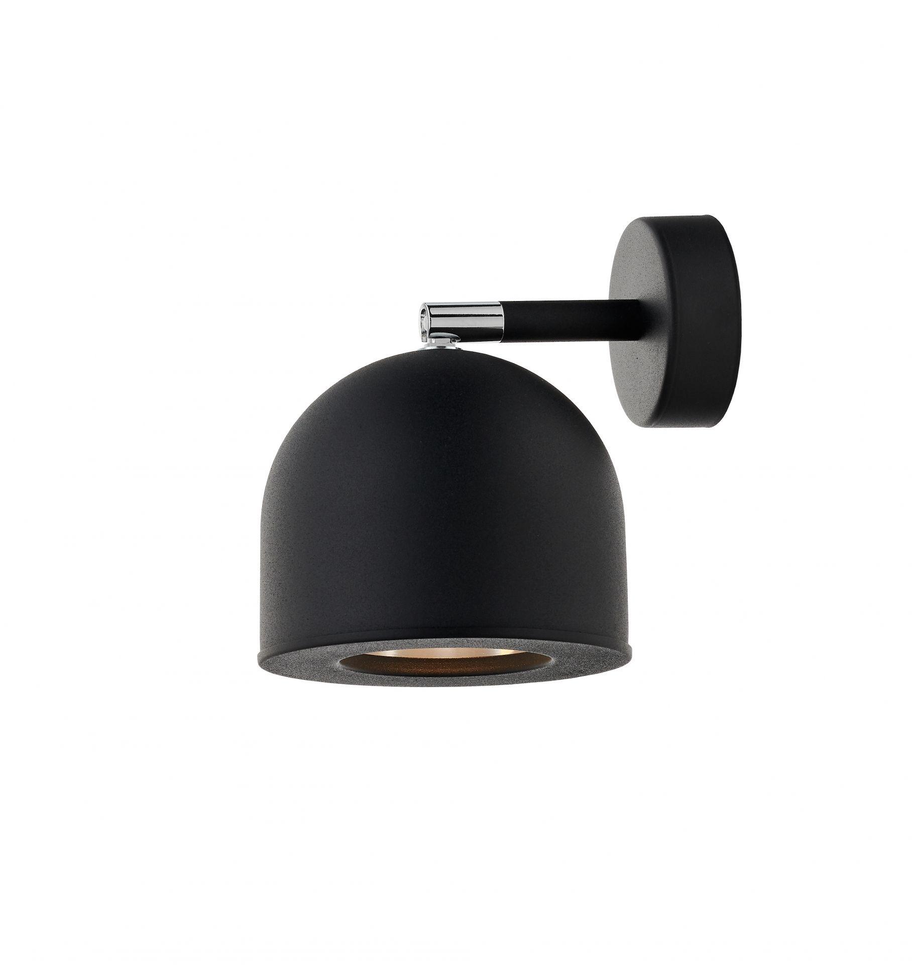 Kinkiet Pilar 50804102 KASPA czarna oprawa w minimalistycznym stylu