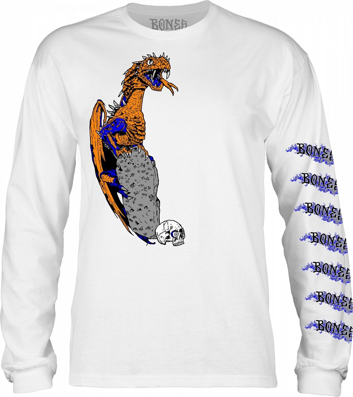 t-shirt męski BONES CODY LOCKWOOD DRAGON LS White