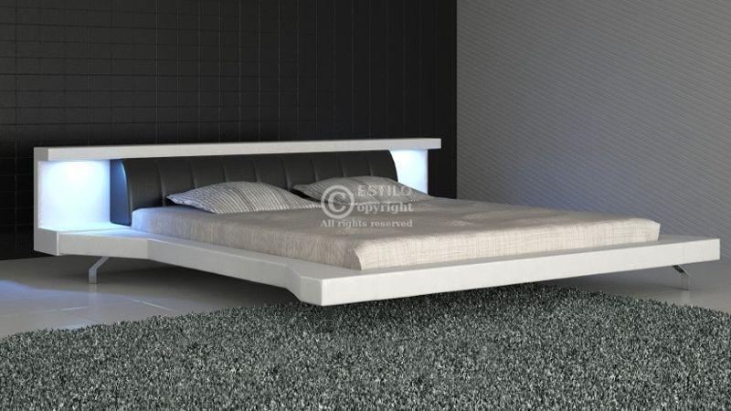 Łóżko tapicerowane Soul Led 200x200 - tkanina
