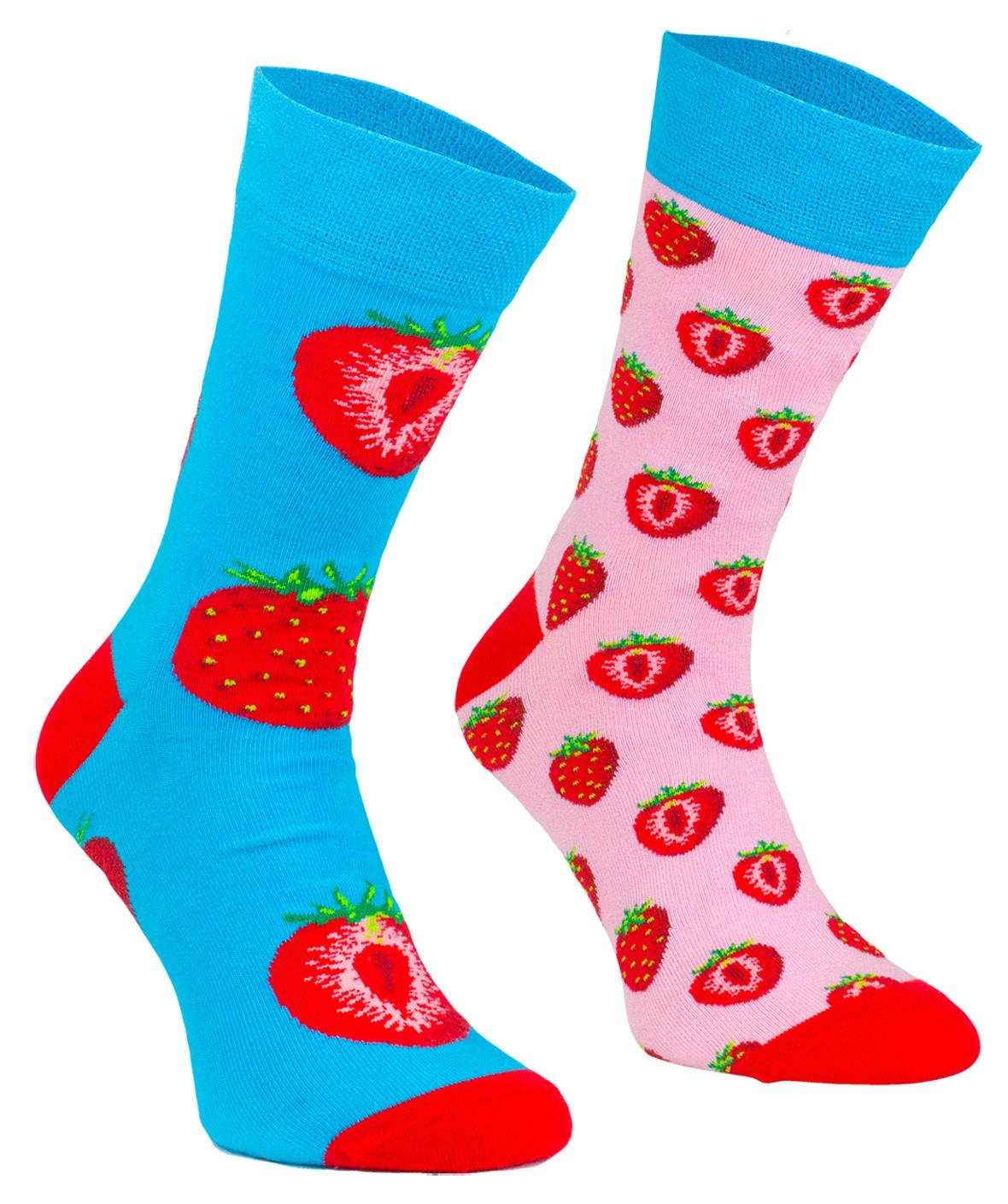 Strawberry, Todo Socks, Truskawki, Kolorowe Skarpetki