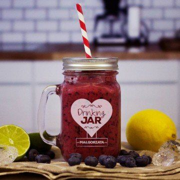 Drinking Jar - Grawerowany słoik z uchem