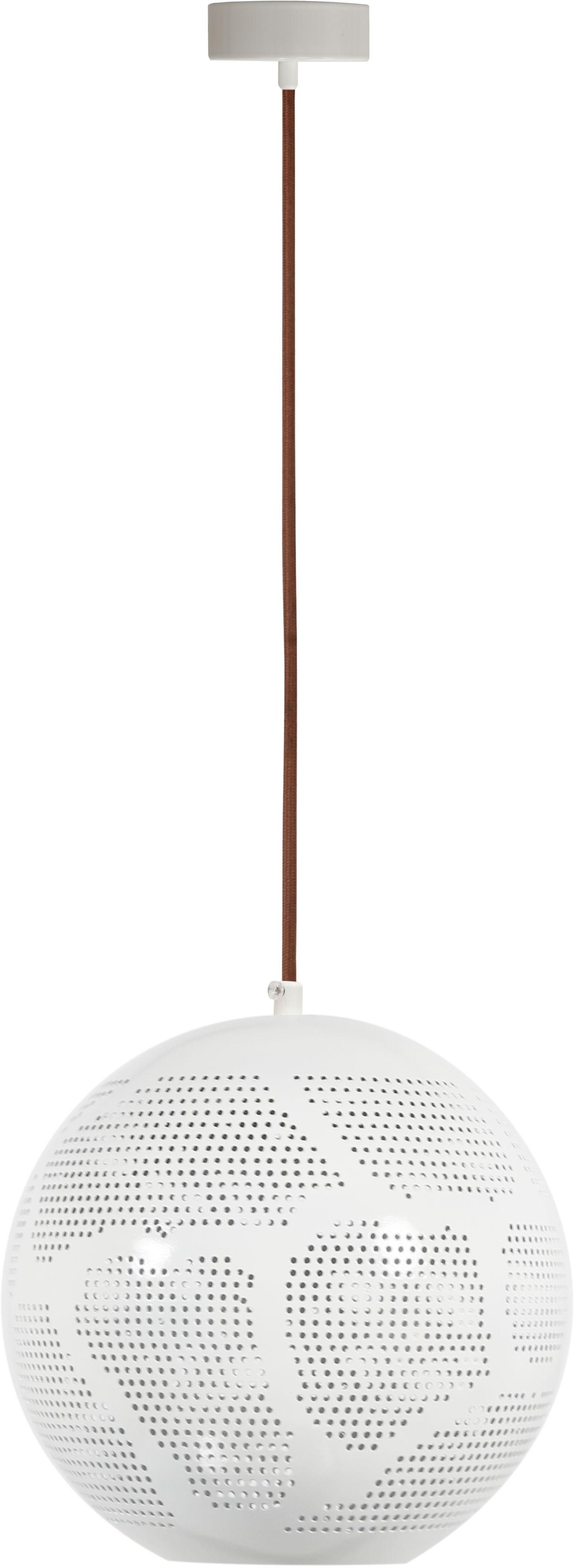 Candellux BENE 31-70579 lampa wisząca kula klosz metalowy ażurowy biały 1X60W E27 25cm
