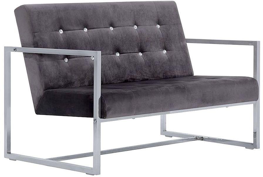 Zgrabna 2-osobowa sofa Mefir - szara