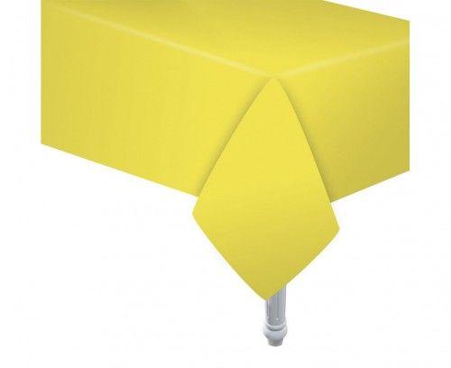 Obrus papierowy, żółty