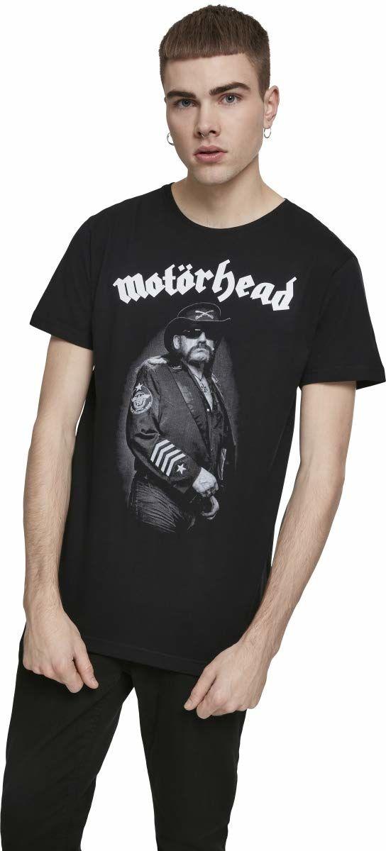 Motörhead T-shirt męski Lemmy Kilmister Band Tee z portretowym nadrukiem czarny czarny S