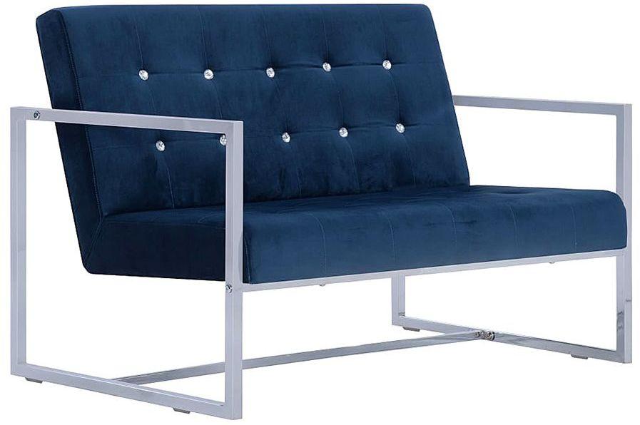 Zgrabna 2-osobowa sofa Mefir - niebieska
