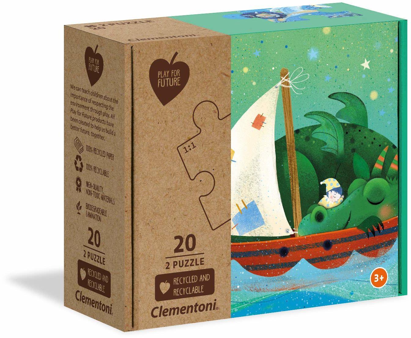 Clementoni 24770 Sweet Dreams-2x20 sztuk - Made in Italy - 100% recyklingowane materiały, puzzle dla dzieci