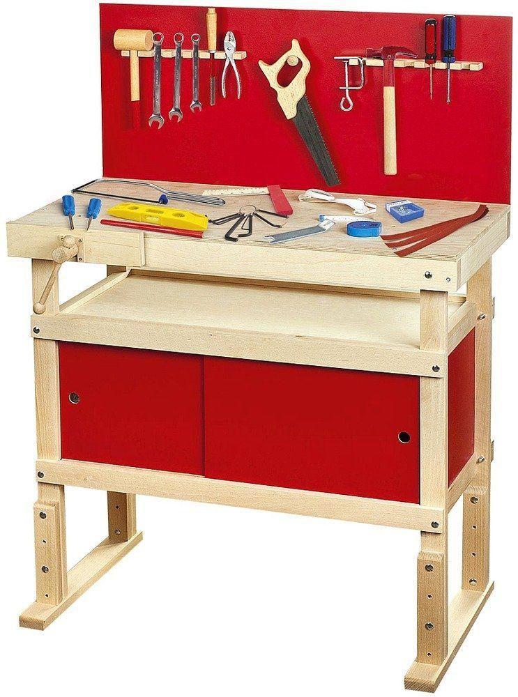 Drewniany warsztat dla dzieci i akcesoria Spec Red 240600, zabawki dla chłopca