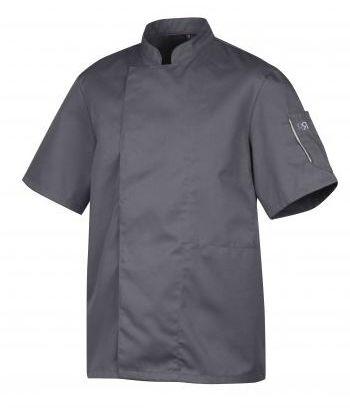 Bluza kucharska Nero antracyt krótki rękaw S