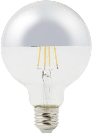 Żarówka lustrzana LED Diall G95 E27 5 W 470 lm przezroczysta barwa ciepła srebrna