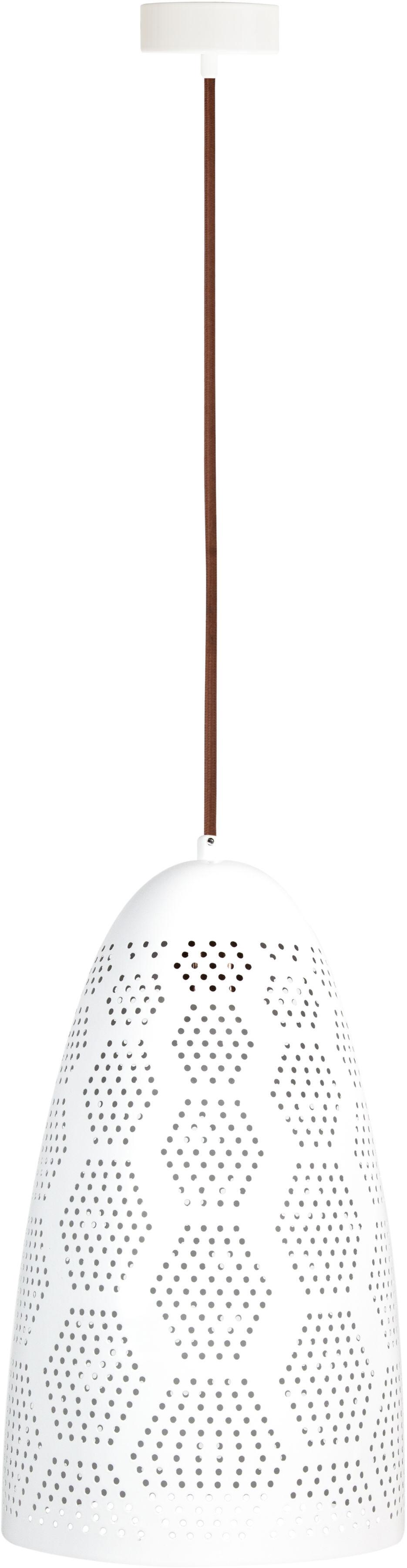 Candellux BENE 31-70593 lampa wisząca metalowy klosz ażurowy biały 1X60W E27 20cm