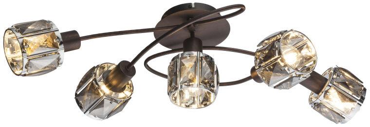 Globo INDIANA 54357-5 plafon lampa sufitowa brązowa 5xE14 40W 36cm
