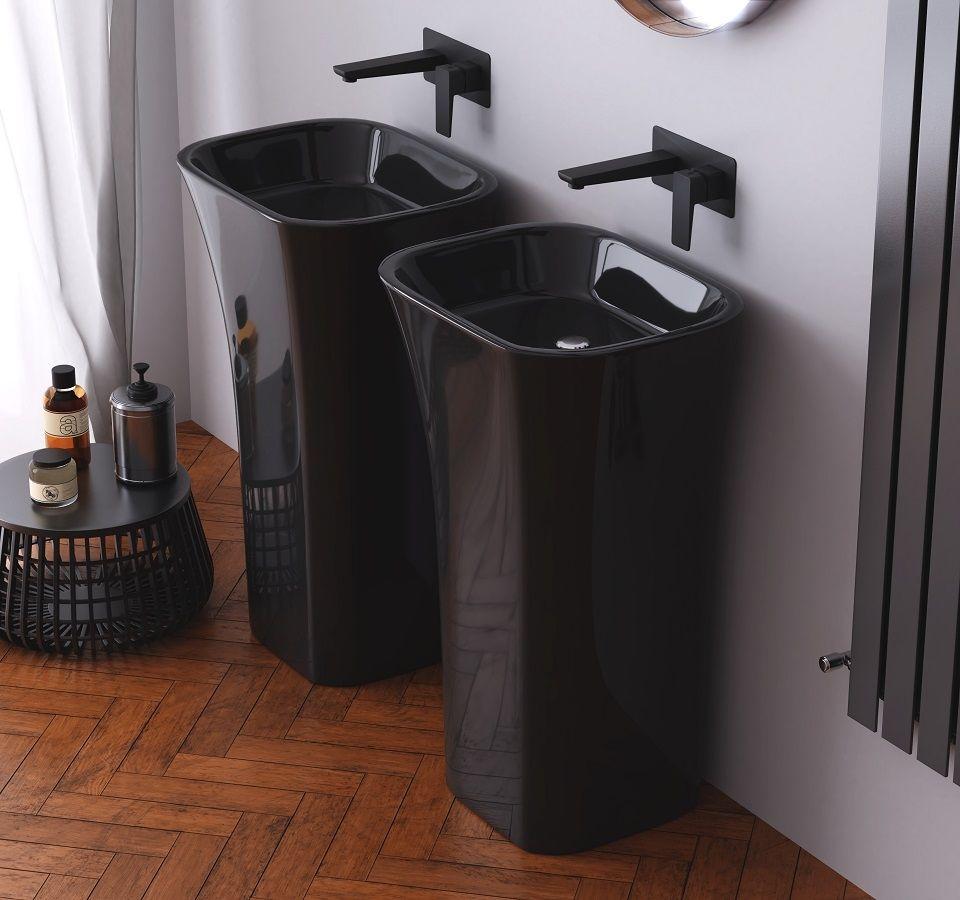 Besco Assos umywalka wolnostojąca czarna 41x52x85 #UMD-A-CZARNA