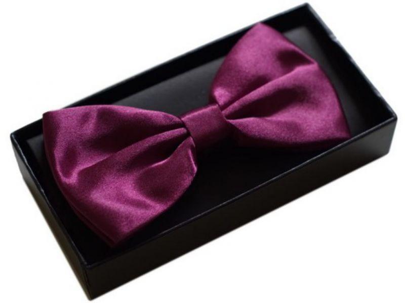 Elegancka mucha do koszuli męskiej FIOLETOWA purple