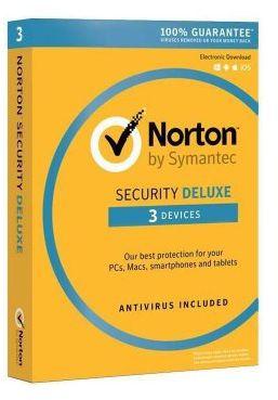 Norton Security Deluxe 3 urządzeń / 3 lata Polska wersja językowa! / szybka wysyłka na e-mail / Faktura VAT / 32-64BIT / WYPRZEDAŻ