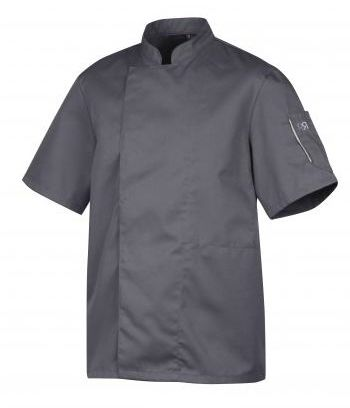 Bluza kucharska Nero antracyt krótki rękaw XL