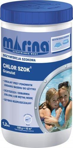Chlor Szok granulat 1,2 kg, do stosowania dla wody twardej