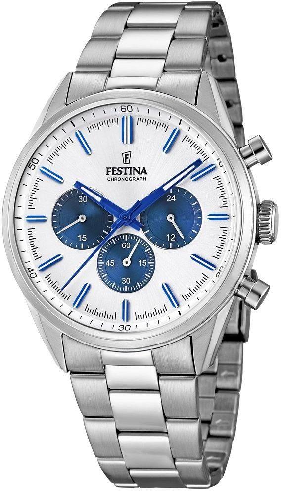 Zegarek Festina F16820-5 Timeless Chronograph - CENA DO NEGOCJACJI - DOSTAWA DHL GRATIS, KUPUJ BEZ RYZYKA - 100 dni na zwrot, możliwość wygrawerowania dowolnego tekstu.