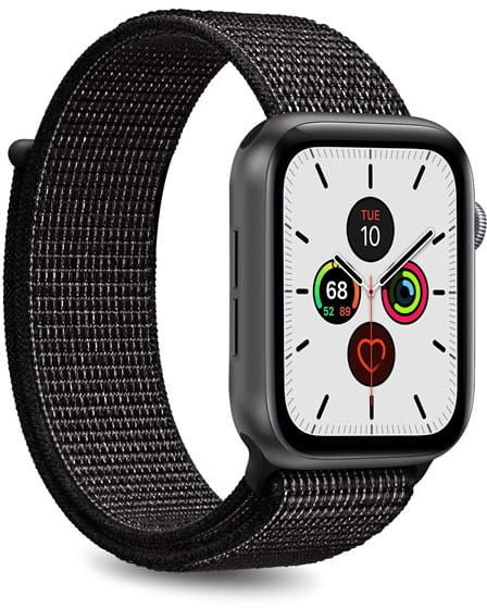 Nylonowy pasek PURO Band Apple Watch 38 / 40 mm (Czarny)