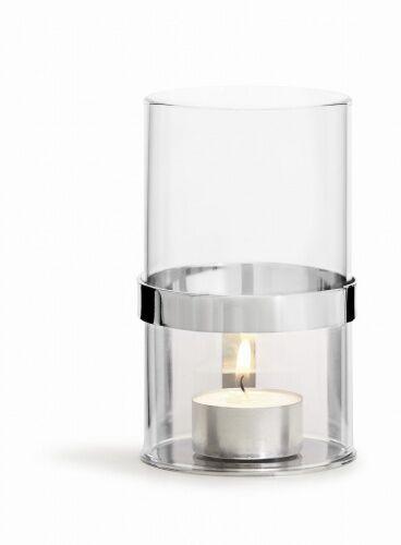lampion na tealight, śred. 7 x 12,5 cm, srebrny, pudełko prezentowe