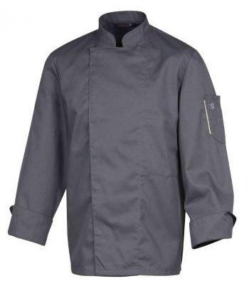 Bluza kucharska Nero antracyt długi rękaw XS