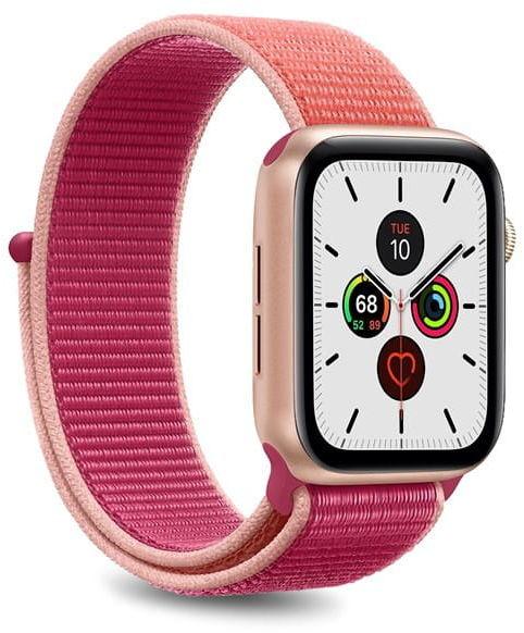 Nylonowy pasek PURO Band Apple Watch 38 / 40 mm (Koralowy/Różowy)